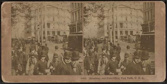 Broadway and post office, New York, U.S.A.