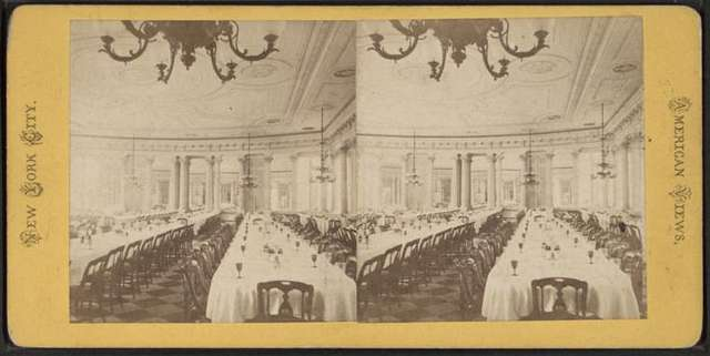 Dining Room of the 5th Avenue Hotel, N.Y.