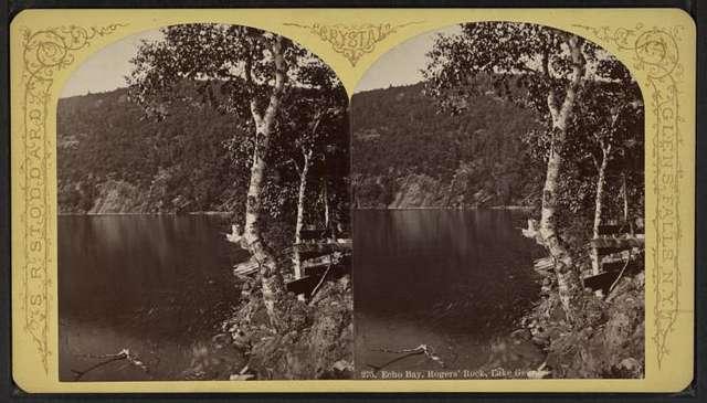 Echo Bay, Rogers Rock, Lake George.