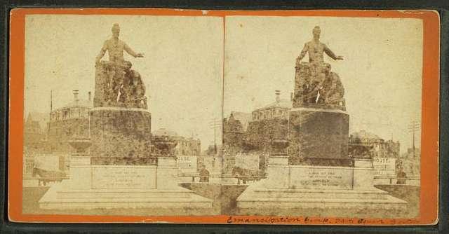 Emancipation group, Park Square, Boston.