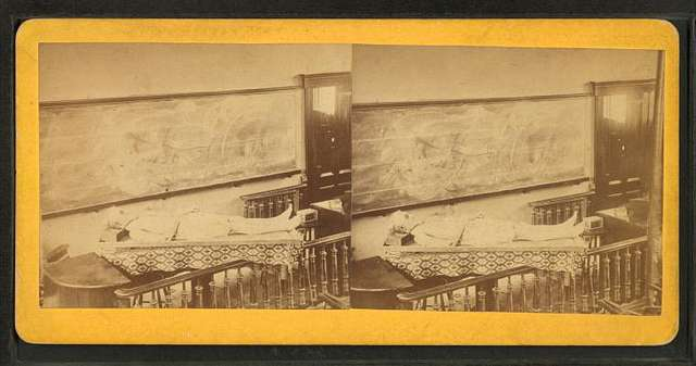 Evans, the Northwood murderer, on the Dissecting table of the Medical College' [Dartmouth College].