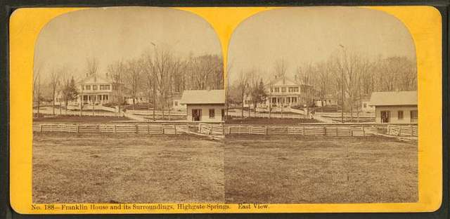 Franklin House and its surroundings, Highgate Springs. East view.
