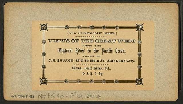 Gilman, Eagle River, Col., D. & R. G. Ry [Denver & Rio Grande Railroad].