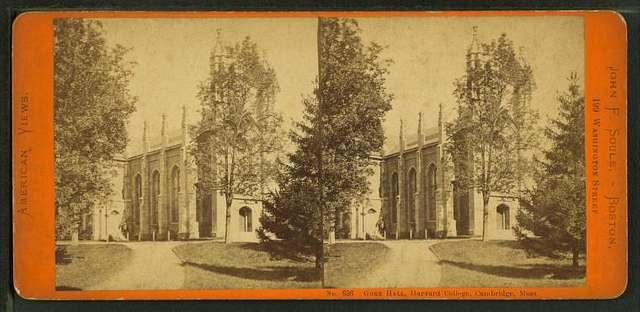 Gore Hall, Harvard College, Cambridge, Mass.