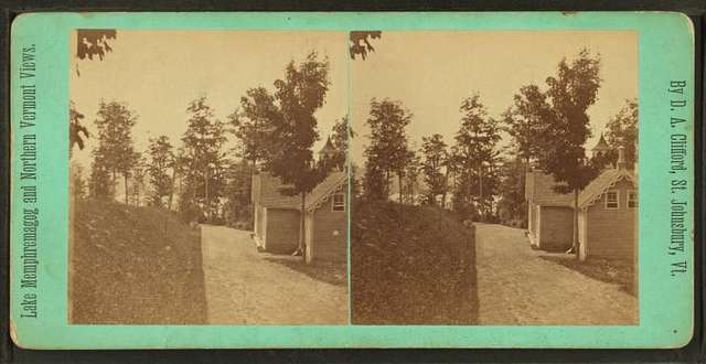 """Hermitage,"""" looking south in Sir Hugh Allan's Grounds."""