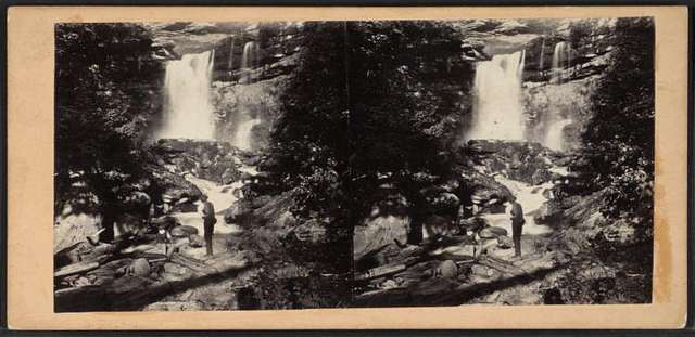 Kauterskill Fall, from from below the Second Fall.