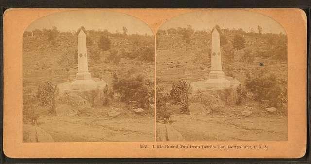 Little Round Top, from Devil's Den, Gettysburg, U.S.A.