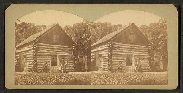 Log House on West Okoboji Lake where Abbie Gardner and others were massacared in 1857.