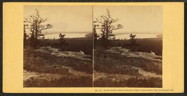 Lovel's [Lovells] Pond, (scene of Indian fight), from Jockey Cap, Fryeburgh, Me.