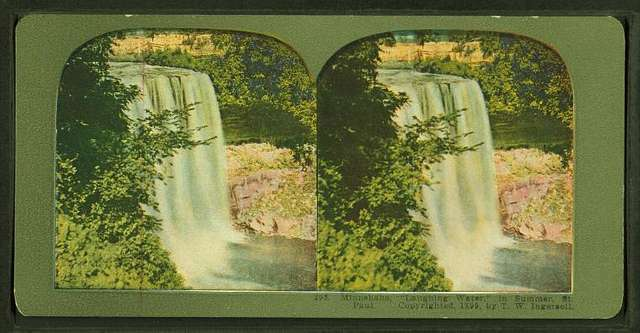 "Minnehaha, ""laughing water"", in summer."