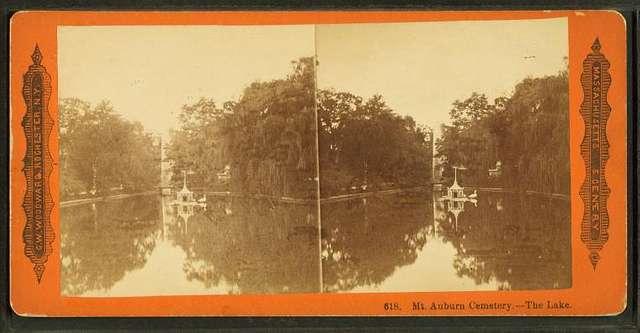 Mt. Auburn cemetery--the lake.