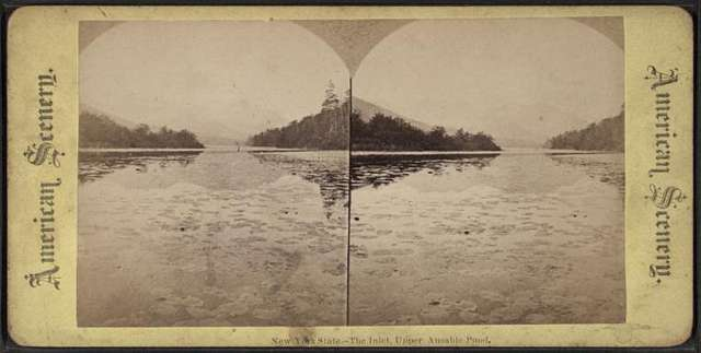New York State. The inlet, Upper Ausable [Au Sable] Pond.