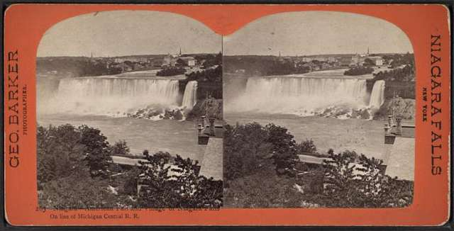 Niagara, American Fall and village of Niagara Falls on line of Michigan Central R. R..