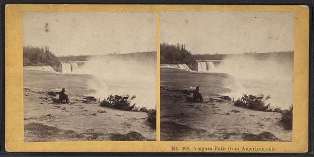 Niagara Falls from American side.
