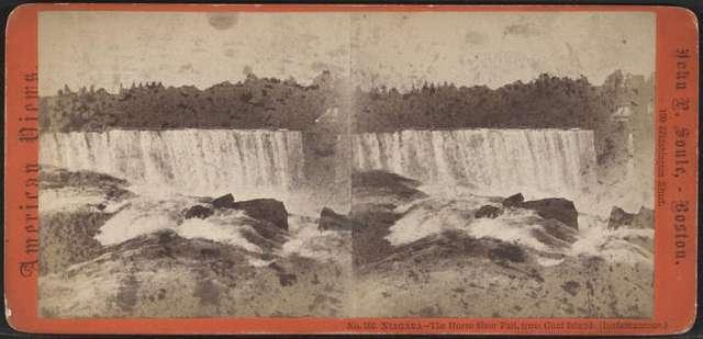 Niagara - The Horse Shoe Fall, from Goat Island.