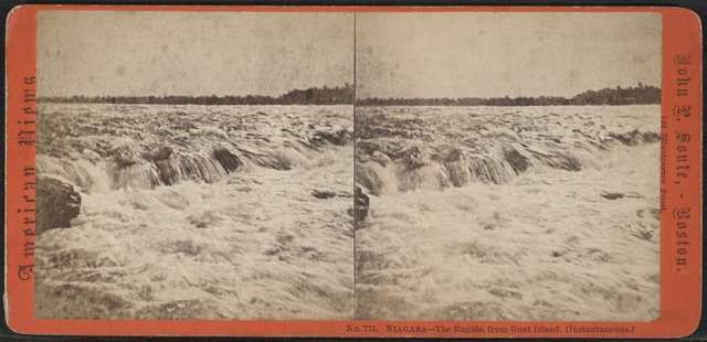 Niagara - The Rapids, from Goat Island.