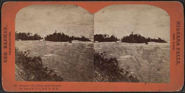 Niagara, the three Sister Islands on line of N. Y. C. & H. R. R. R..