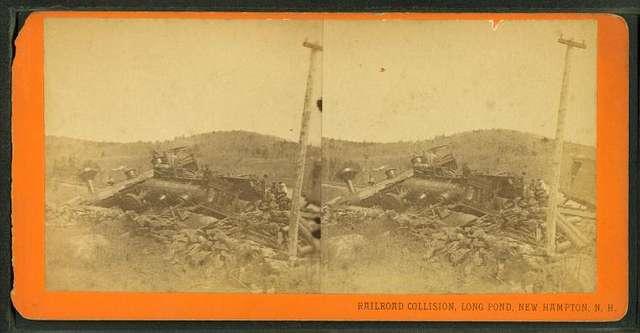 Railroad collision, Long Pond, New Hampton, N.H.