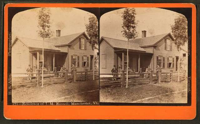 Residence of J. M. Russell, Manchester, Vt.