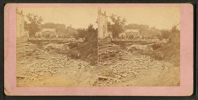 Scenes of destruction from the Catfish Creek flood 1876, Dubuque, Iowa.