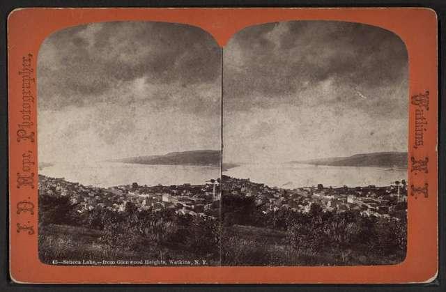 Seneca Lake, from Glenwood Heights, Watkins, N.Y.