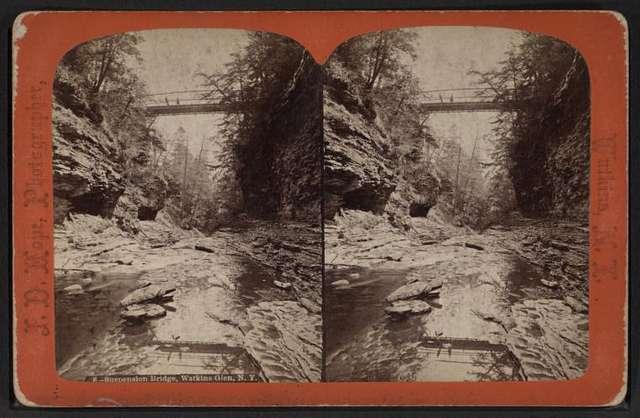 Suspension bridge, Watkins Glen, N.Y.