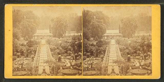 The garden walk, Friends Asylum, Philadelphia.
