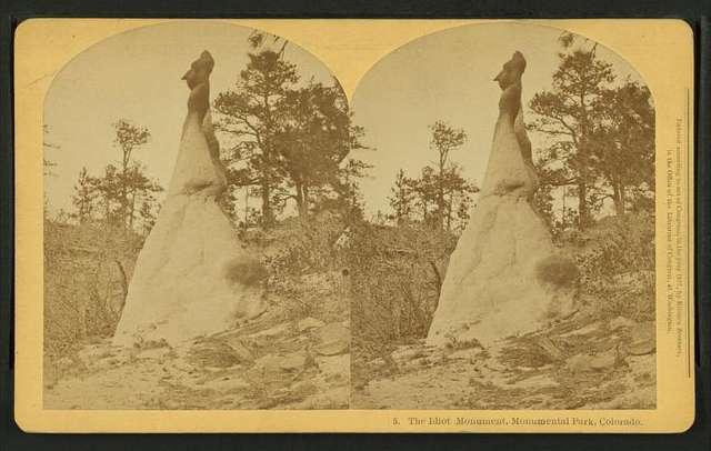The Idiot monument, Monumental Park, Colorado.