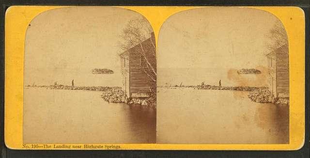 The landing near Highgate Springs.