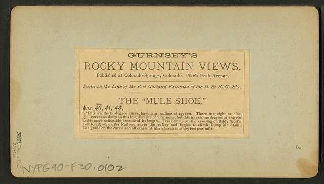 """The """"Mule shoe."""""""