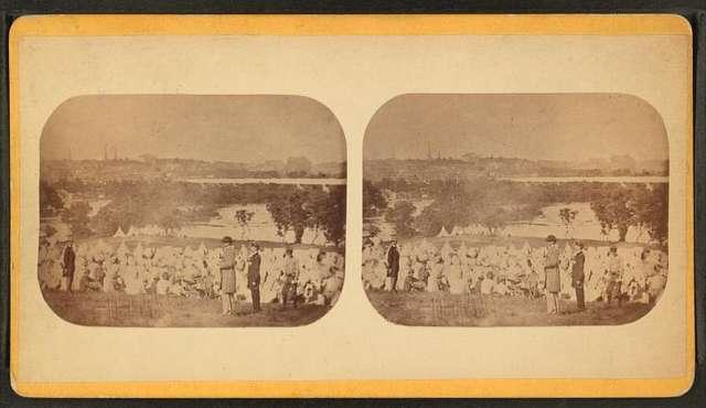"""The Union prison camp at """"Belle Isle,"""" Richmond, Va."""