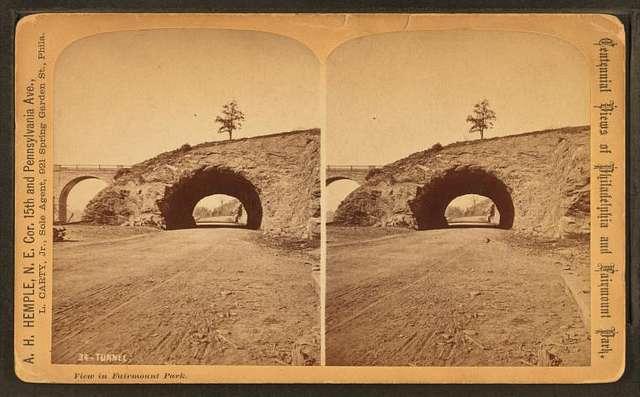 View in Fairmount Park. Tunnel.