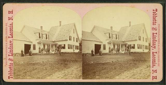View of a family in Laconia, N.H.