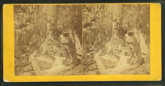 Visitors at the Flume, 1867.