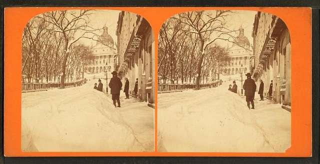 Winter scene in Park Street.
