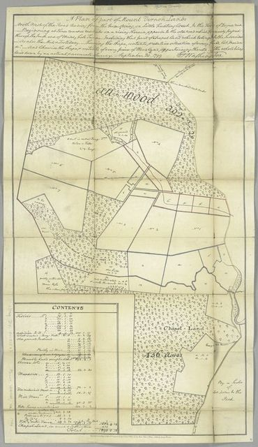 A plan of part of Mount Vernon lands ... the whole being laid down by an actual, accurate survey, September 20, 1799, G. Washington.