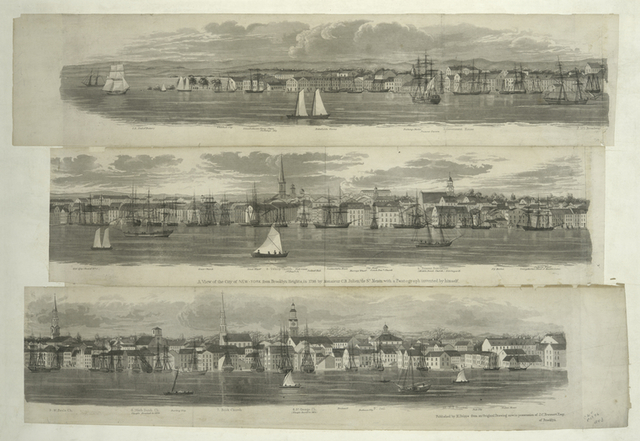 A view of the city of New-York from Brooklyn Heights, in 1798.