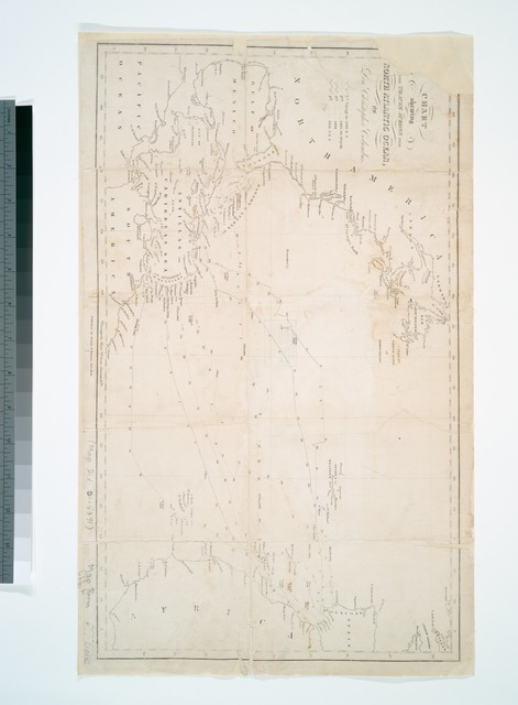 Chart shewing the tracks across the North Atlantic Ocean, of Don Christopher Columbus