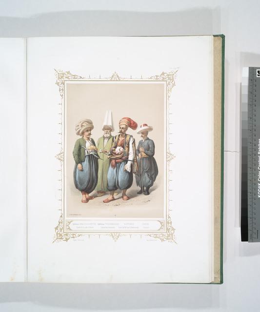 Djébéhané Cara-Coulouktchi, Garde de la salle d'Armes, Djébéhané Tchorbadjissi, Colonel des Armuriers, Bostandji, Garde du Pal. Impl. d' Andrinople, Chatir, Coureur