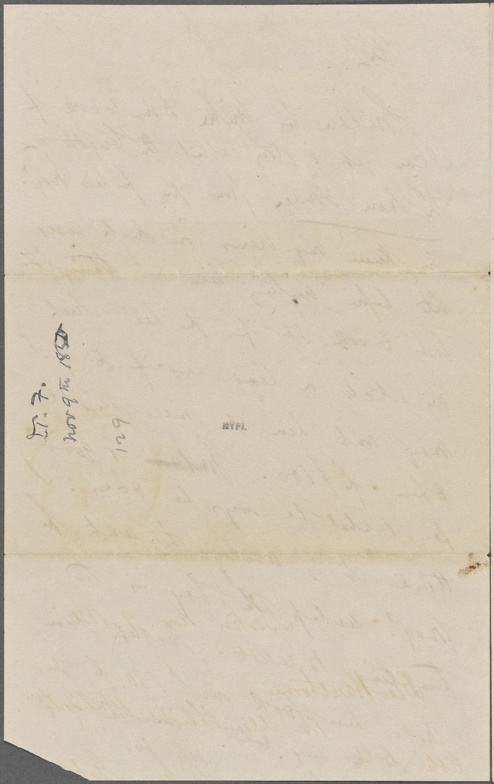 Fields, J. T., ALS, to NH. Nov. 9, 1850.