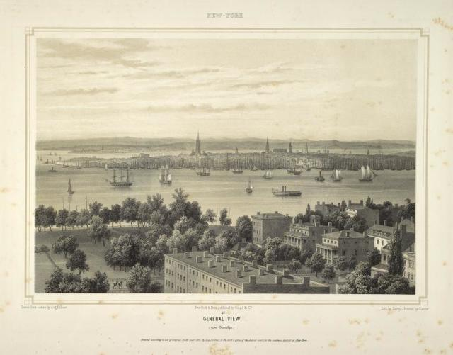 General view (from Brooklyn.) Above, over border: New-York