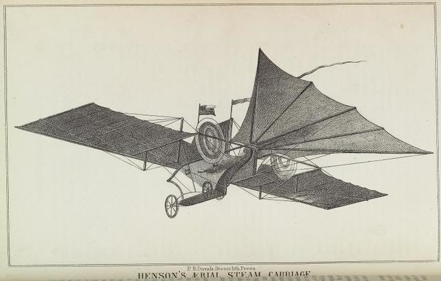 Henson's aerial steam carriage