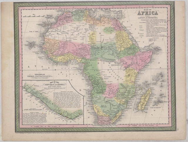 Map of Africa from the latest authorities: possessions of the European powers