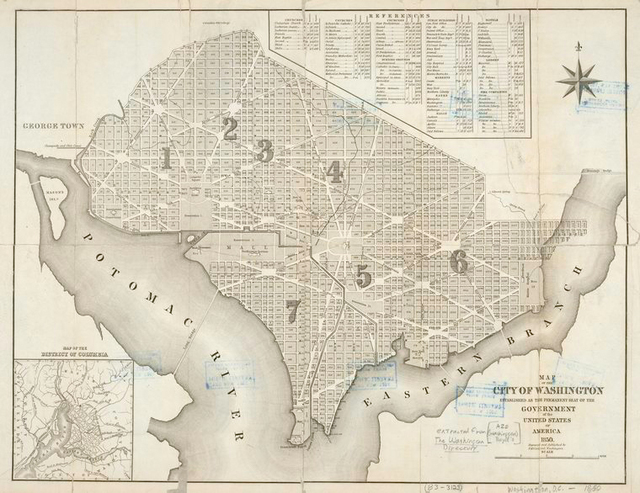 Map of the city of Washington : established as the permanent seat of the government of the United States of America