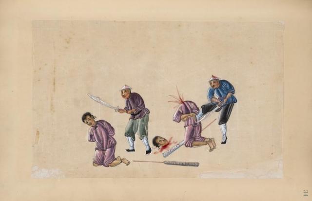 Scene of beheading.