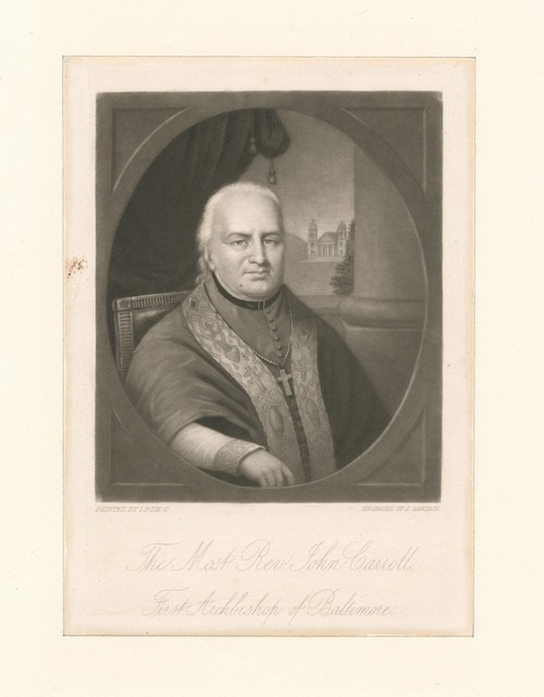 The Most Rev. John Carroll, first archbishop of Baltimore.