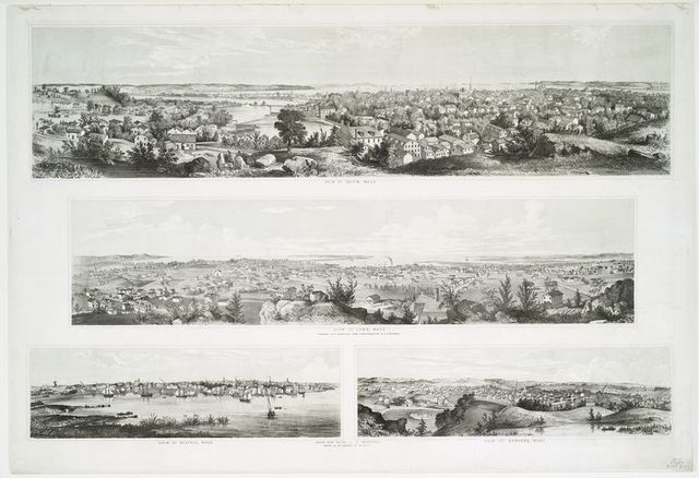 View of Salem, Mass. ; View of Lynn Mass. ; View of Beverly, Mass. ; View of Danvers, Mass.