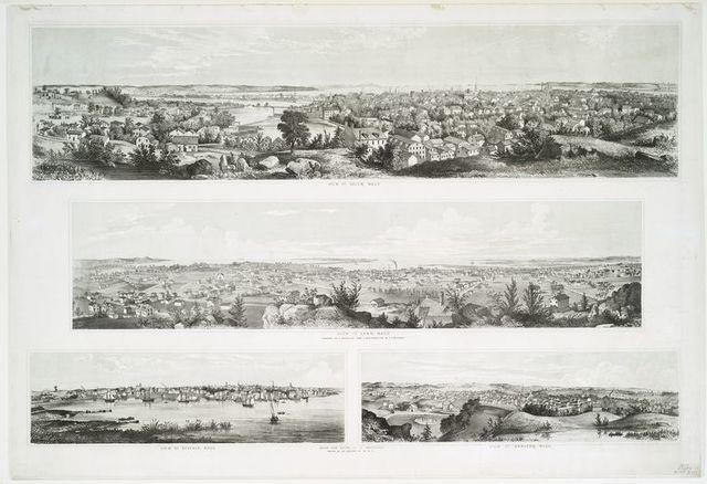 View of Salem, Mass. ; View of Lynn Mass. ; View of Beverly, Mass. ; View of Danvers, Mass.