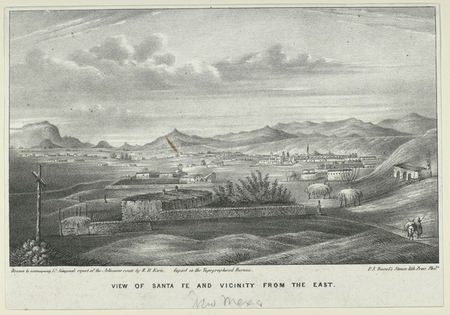 View of Santa Fe and vicinity from the east.