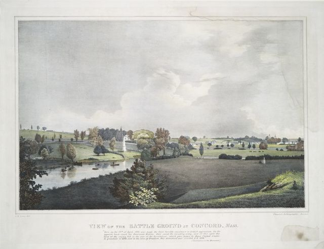 View of the battle ground at Concord, Mass.